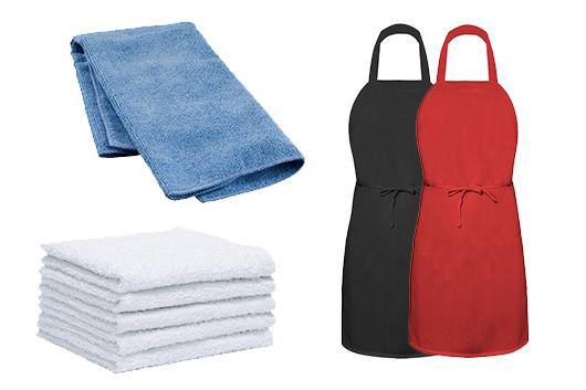 facility services rental towels-aprons