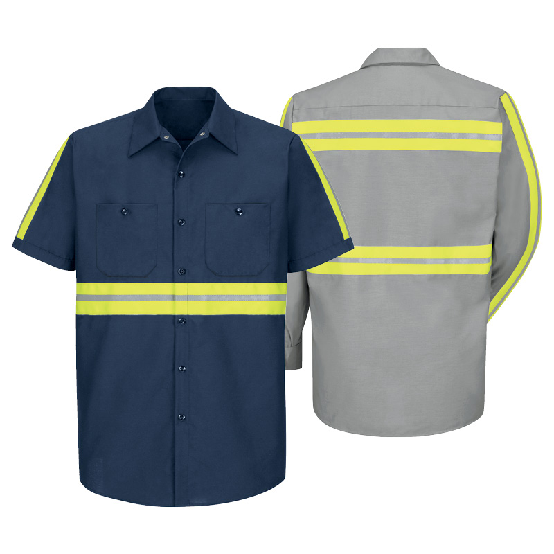 uniform rental enhanced-visibility-shirt-red-kap