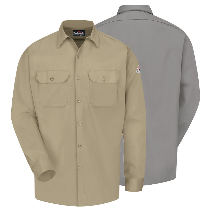 uniform rental flame-resistant-excel-fr-work-shirt-bulwark
