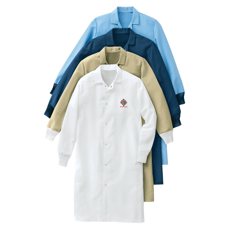 uniform rental food-processing-pocketless-butcher-coat-red-kap