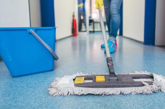 brooms mops