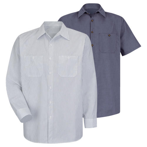 Wrinkle-Resistant Cotton Work Shirt from Red Kap